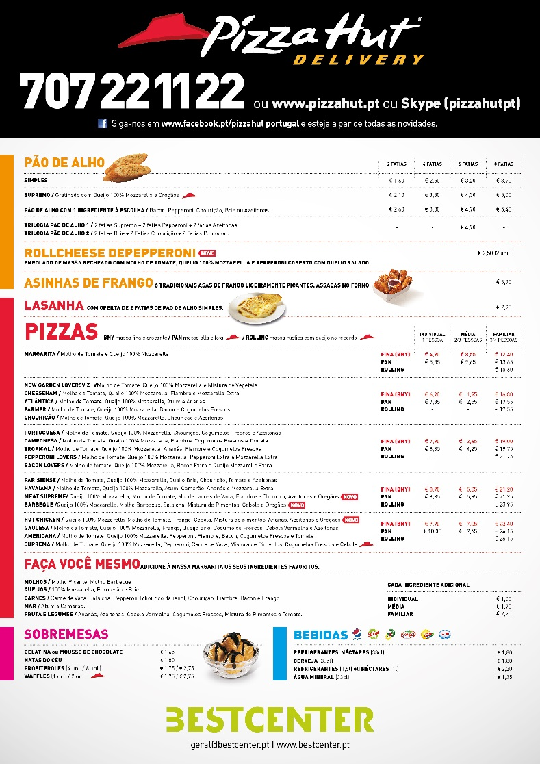 BESTCENTER estabelece parceria com PIZZA HUT